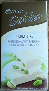 Ulker Golden Premium White Chocolate With Pistachios