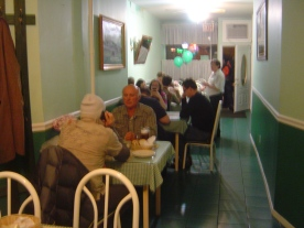 Customers of Slovak background eating at the restaurant - always a good sign