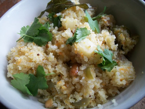 Gluten Free Upma Using Attieke Couscous