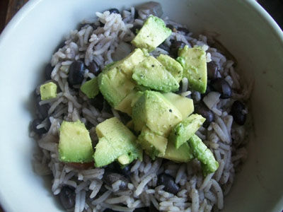 Black Beans and Rice with Avocado