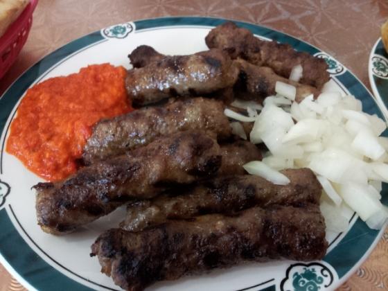 Cevapli Sausages with Ajvar