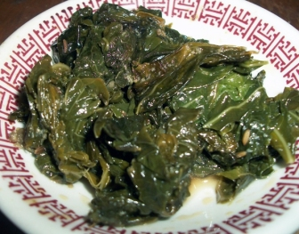 Mean, mean haak collard greens