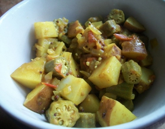 Okra and Potato Curry