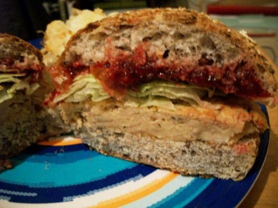 Thanksgiving Turkey & Mash Sandwich